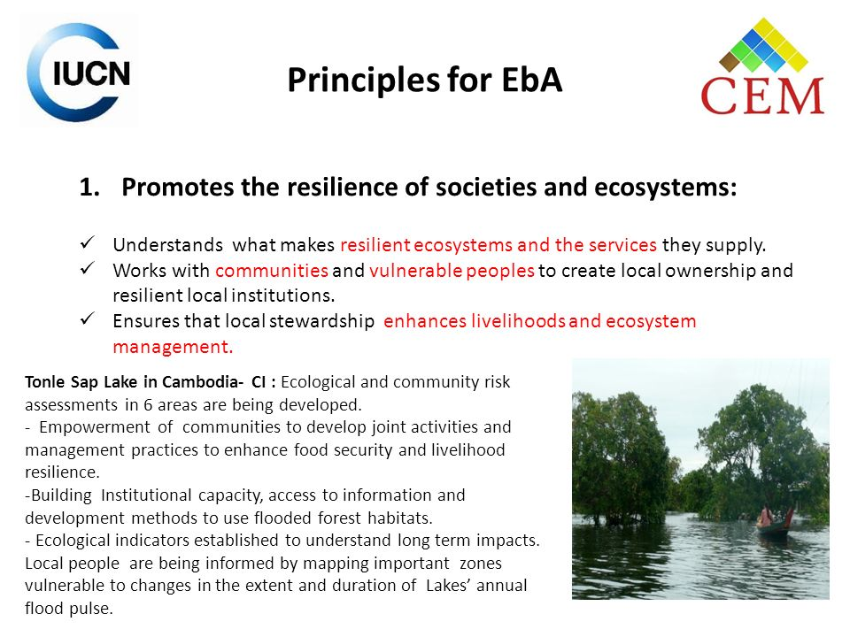 2.Promotes multi-sectoral approaches, and ensure: Collaboration between sectors managing ecosystems and those benefiting from Ecosystem Services.