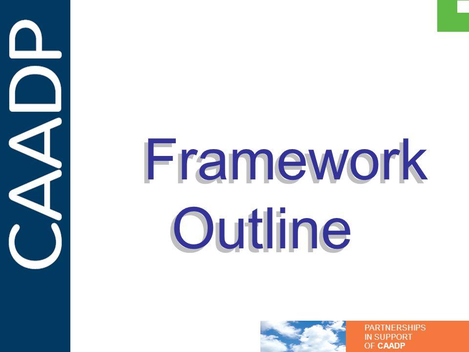 PARTNERSHIPS IN SUPPORT OF CAADP Framework Outline