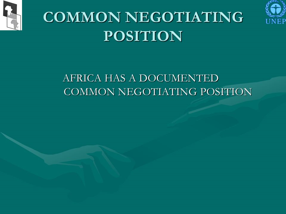Objectives of Technical Session of AMCEN pre-COP15 To update the African common negotiating position; To update the African common negotiating position; To deliberate on the framework of African climate change programmes and its associated frameworks of subregional climate change programmes; and To deliberate on the framework of African climate change programmes and its associated frameworks of subregional climate change programmes; and To deepen the understanding of African experts on the issues being negotiated in connection with the international climate change regime beyond 2012 To deepen the understanding of African experts on the issues being negotiated in connection with the international climate change regime beyond 2012