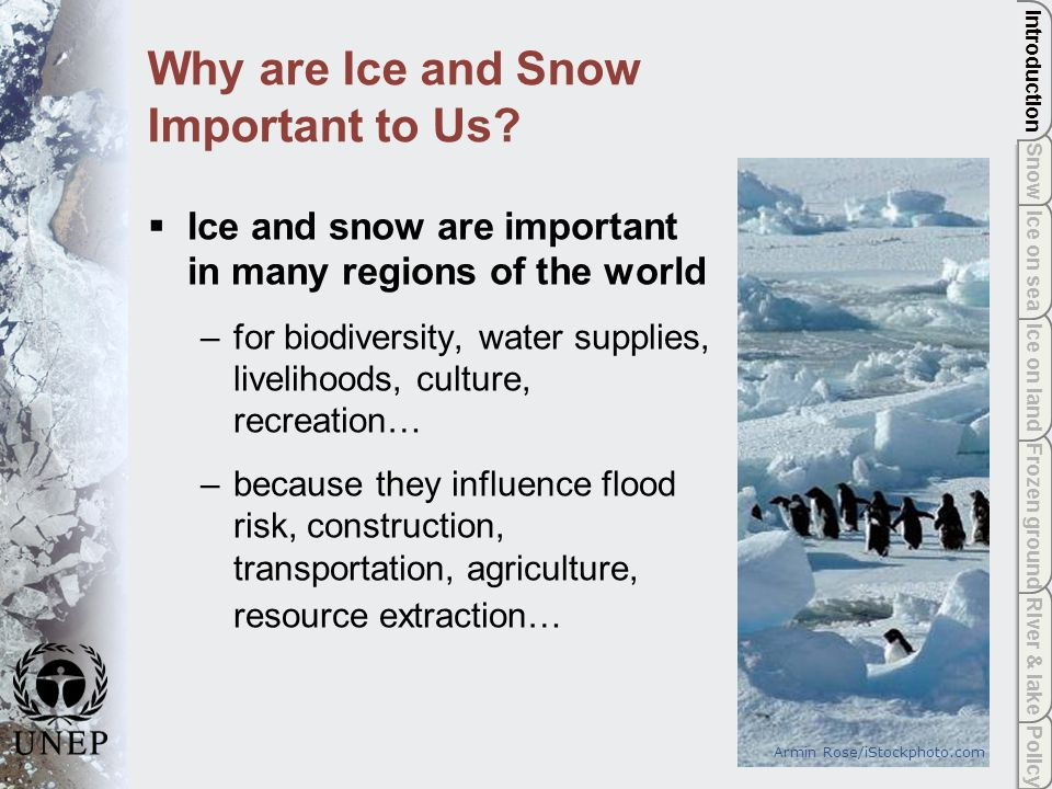 The underlying theme of the Global Outlook for Ice and Snow is that changes are now observed in ice and snow and bigger changes are projected.