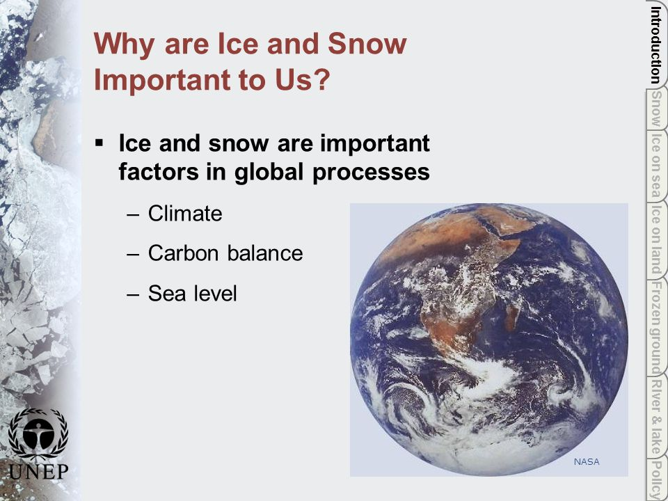Policy River & lake Frozen ground Ice on land Ice on sea Snow Introduction Mitigating climate change by reducing greenhouse gas emissions is the main global policy response.