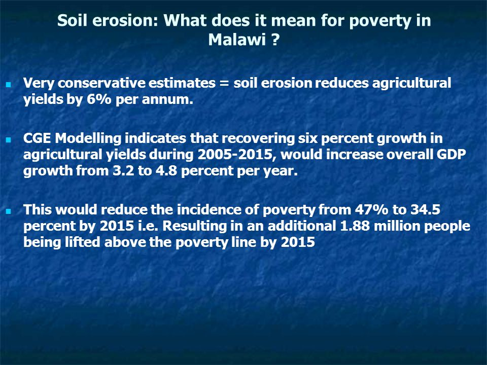 Soil erosion: What does it mean for poverty in Malawi .