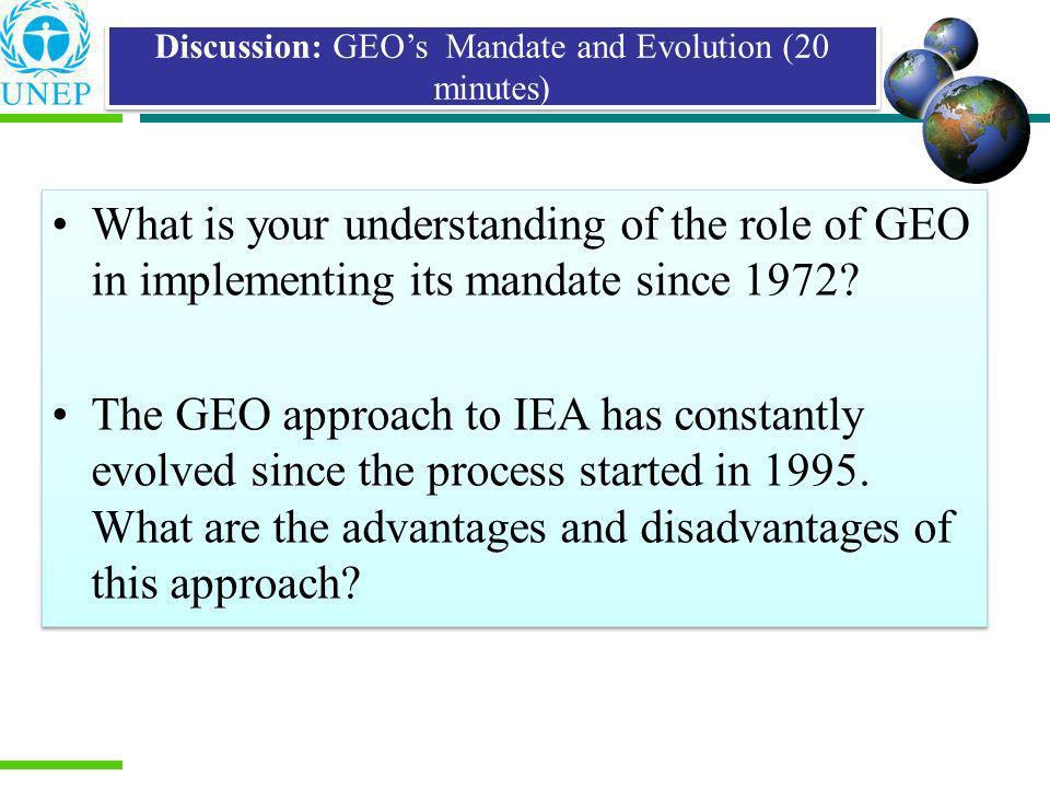 State of Environment (SoE) Reporting Environmental Impact Assessment (EIA) Strategic Environmental Assessment (SEA) Integrated Assessment Practices Similar to IEA