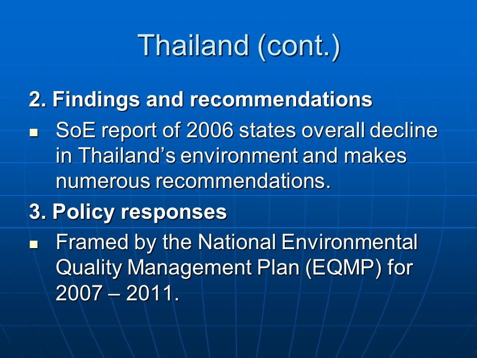 Thailand (cont.) 2.