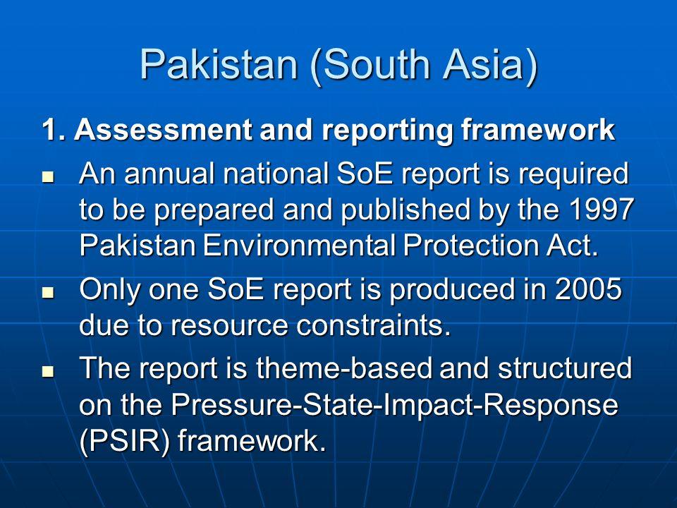 Pakistan (South Asia) 1.