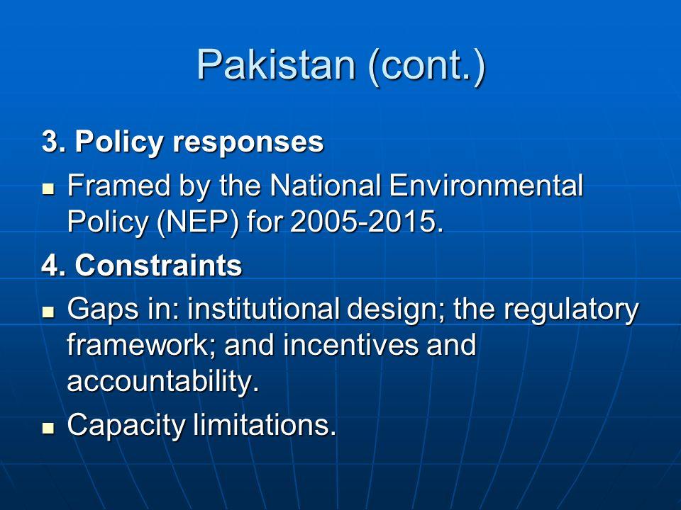 Pakistan (cont.) 3.