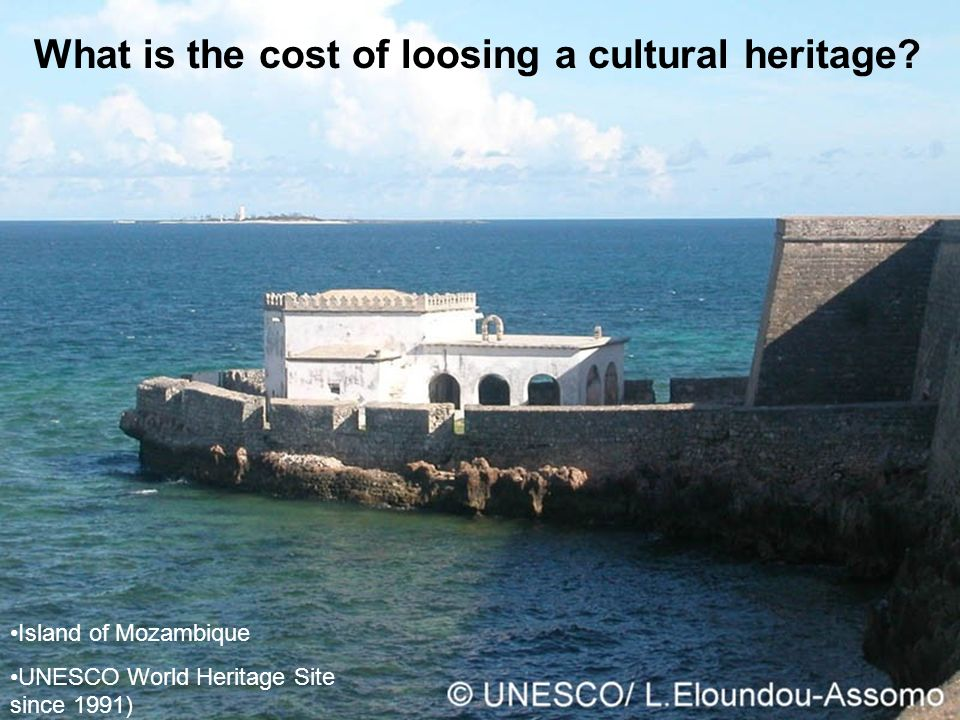 What is the cost of loosing a cultural heritage.