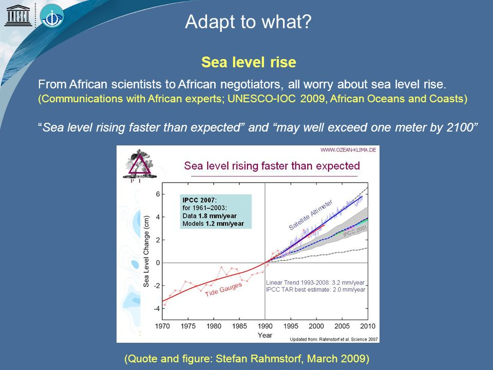 From African scientists to African negotiators, all worry about sea level rise.