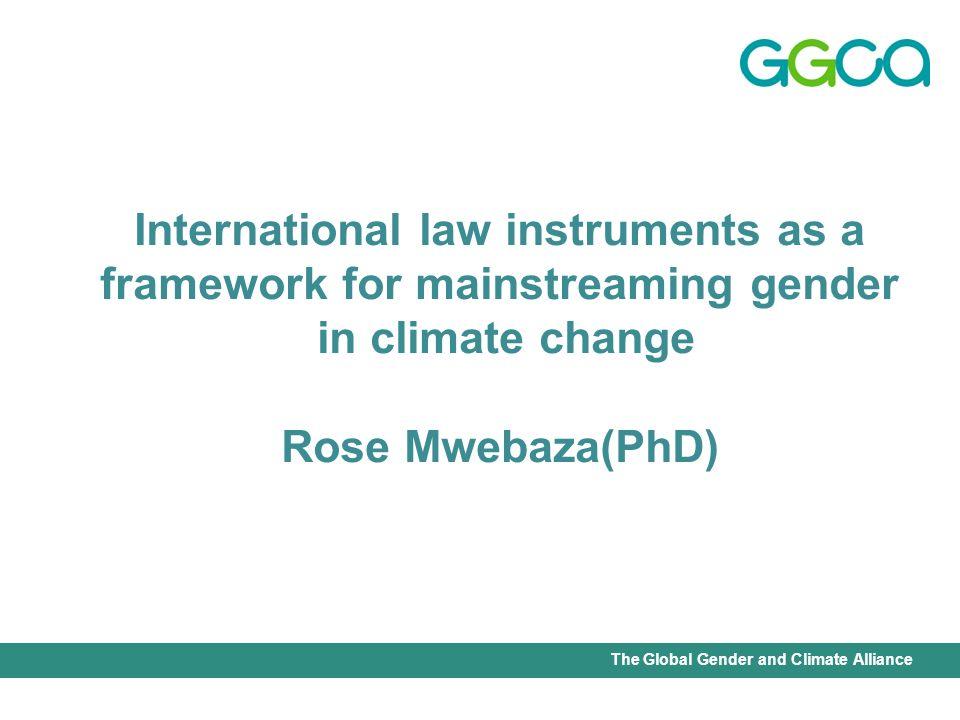 International Union for Conservation of Nature - Office of the Senior Gender AdviserThe Global Gender and Climate Alliance Gender equality