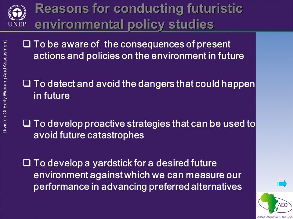Division Of Early Warning And Assessment Emerging issues Issues whose future potential impact may not currently be realized by the public or decision makers but may be vaguely speculated upon by a few scientists, e.g.