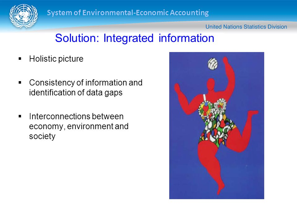 System of Environmental-Economic Accounting 8 Indicators Accounts SEEA Basic data Economic Environmental Social Statistics The information pyramid