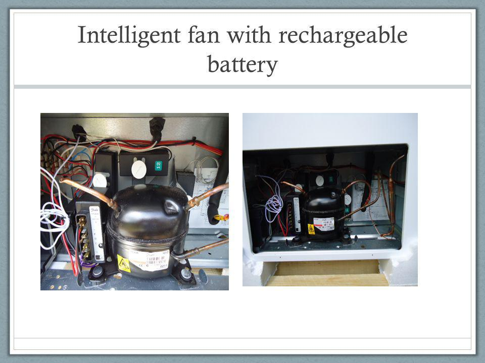 Intelligent fan with rechargeable battery