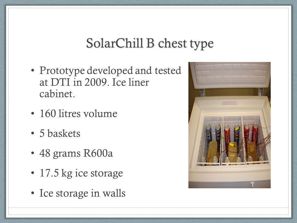 SolarChill B chest type Prototype developed and tested at DTI in 2009.