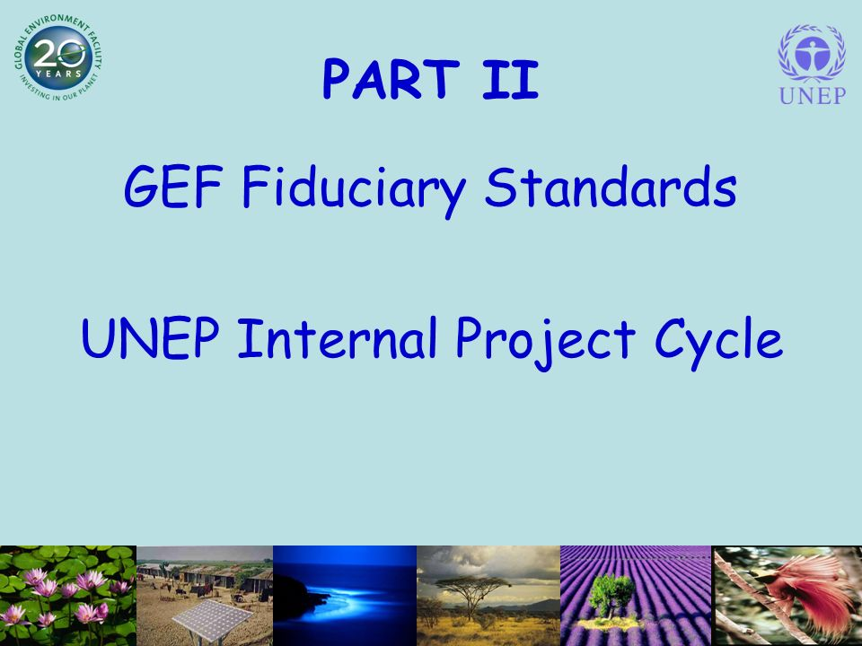 PART II GEF Fiduciary Standards UNEP Internal Project Cycle