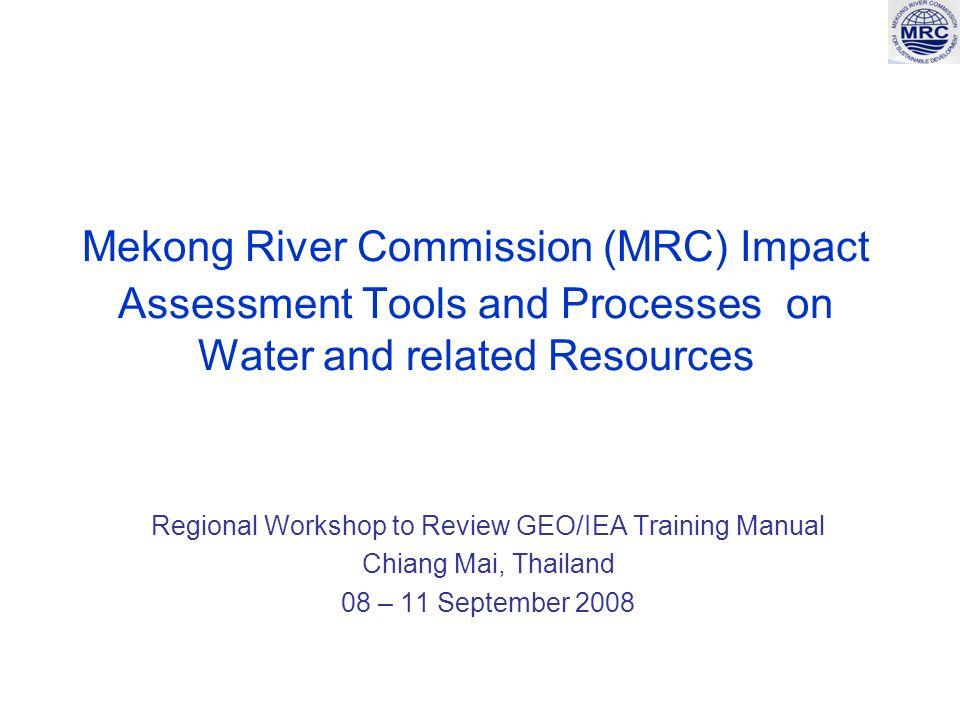 2 Presentation outline The MRC The MRC impact assessment tools MRC impact assessment processes