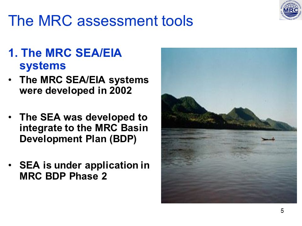 6 The MRC assessment tools - continued 1.