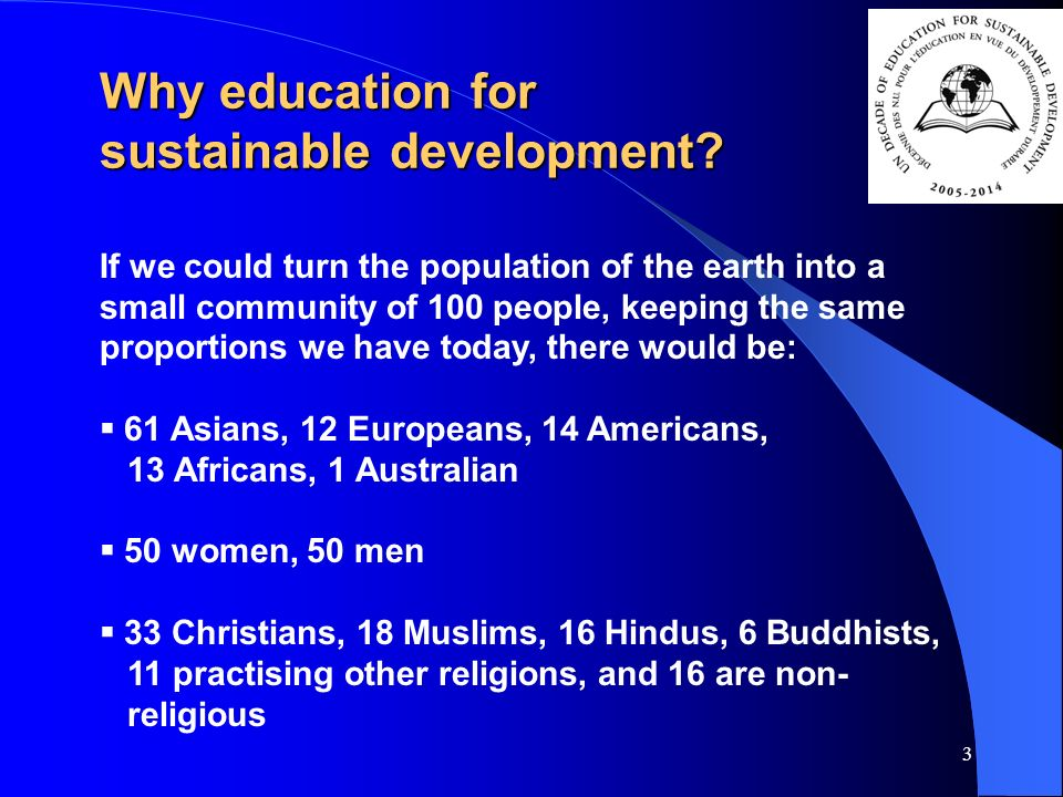 3 Why education for sustainable development.
