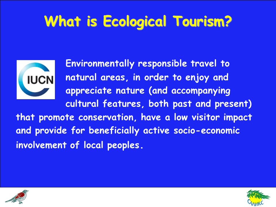 What is Ecological Tourism.