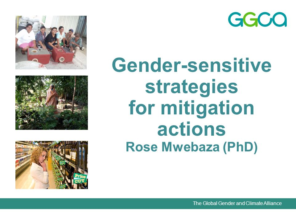The Global Gender and Climate Alliance Basic considerations While there has already been some exploration of the links between adaptation to climate change and gender equality, the gender aspects of mitigation are still at an initial stage