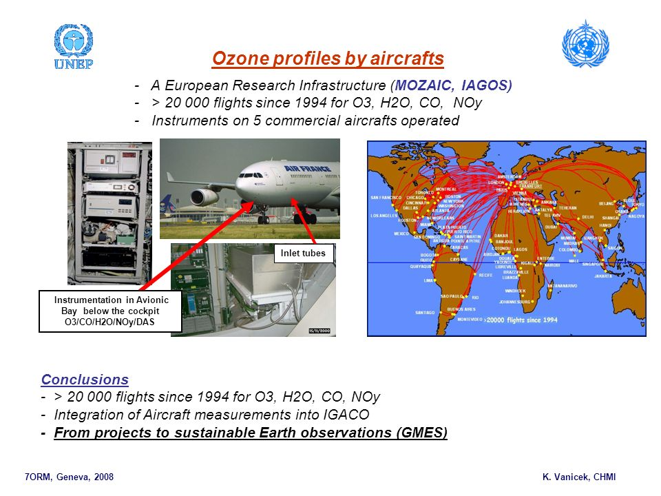 Ozone profiles by aircrafts 7ORM, Geneva, 2008 K.