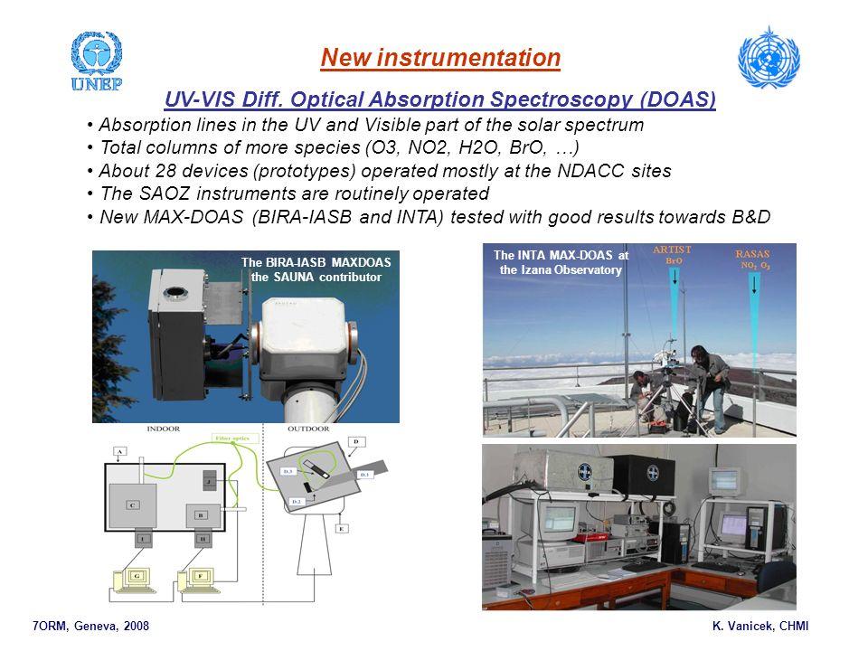 7ORM, Geneva, 2008 K. Vanicek, CHMI New instrumentation UV-VIS Diff.