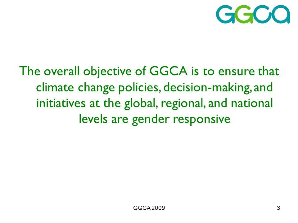 GGCA 20094 Why was GGCA established.