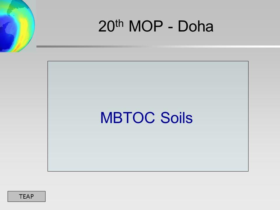 TEAP MBTOC Soils 20 th MOP - Doha