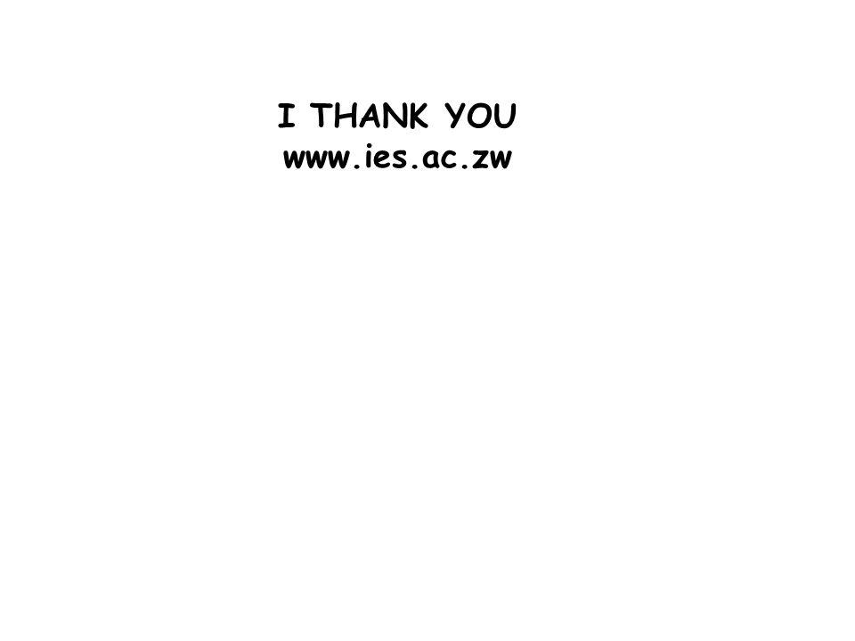 I THANK YOU www.ies.ac.zw