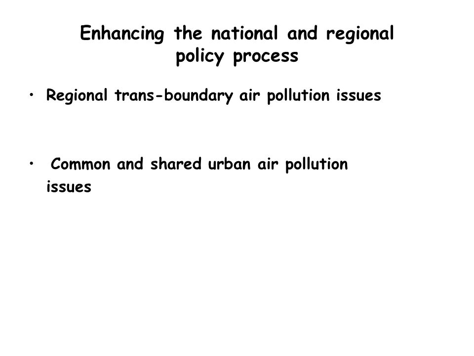 Conclusions However African politicians are likely to get convinced if scientific evidence is generated locally by local scientists with international help APINA presents a vehicle that can be used to provide science based evidence to engage African governments in mitigating climate change through the air pollution route Already all the sub-regional agreements that APINA has facilitated emphasize that air pollution and climate change co-benefits should be pursued where appropriate