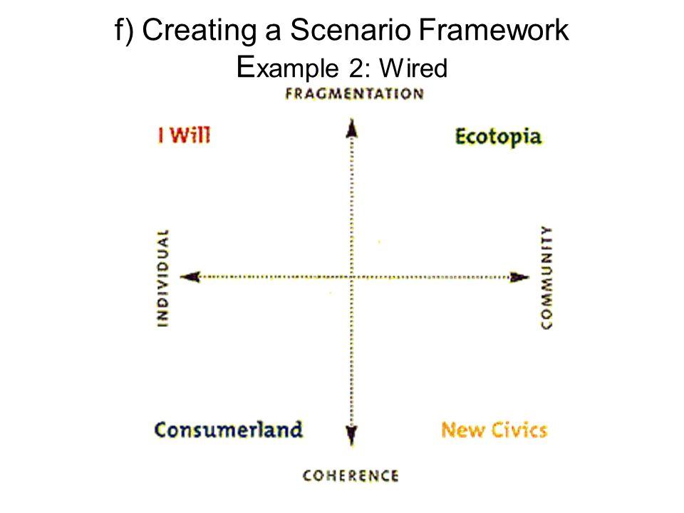 f) Creating a Scenario Framework E xample 2: Wired