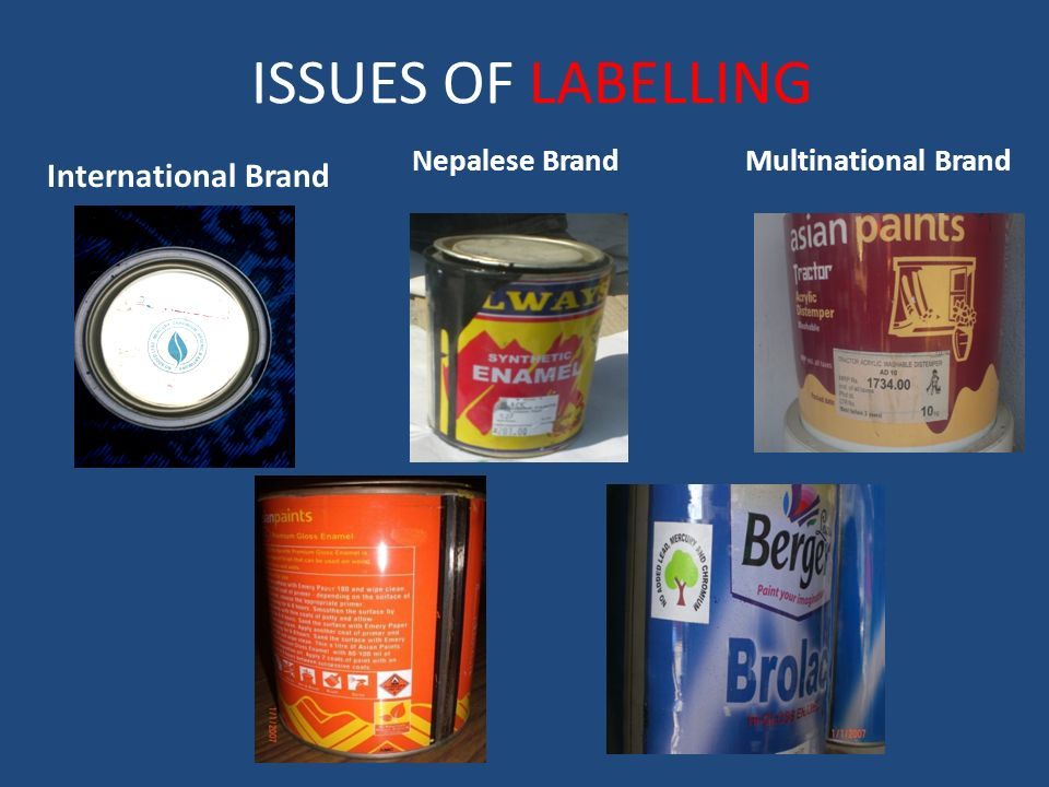 ISSUES OF LABELLING International Brand Nepalese Brand Multinational Brand