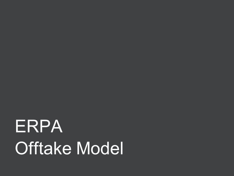 Negotiating ERPAs 11 ERPA Offtake Model