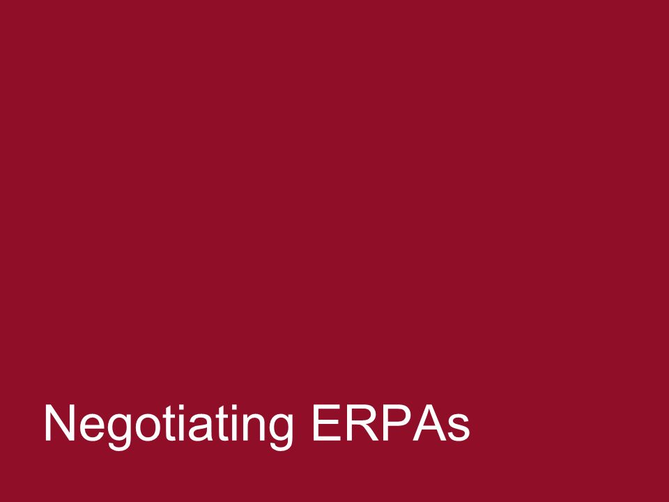 Negotiating ERPAs 20 Negotiating ERPAs