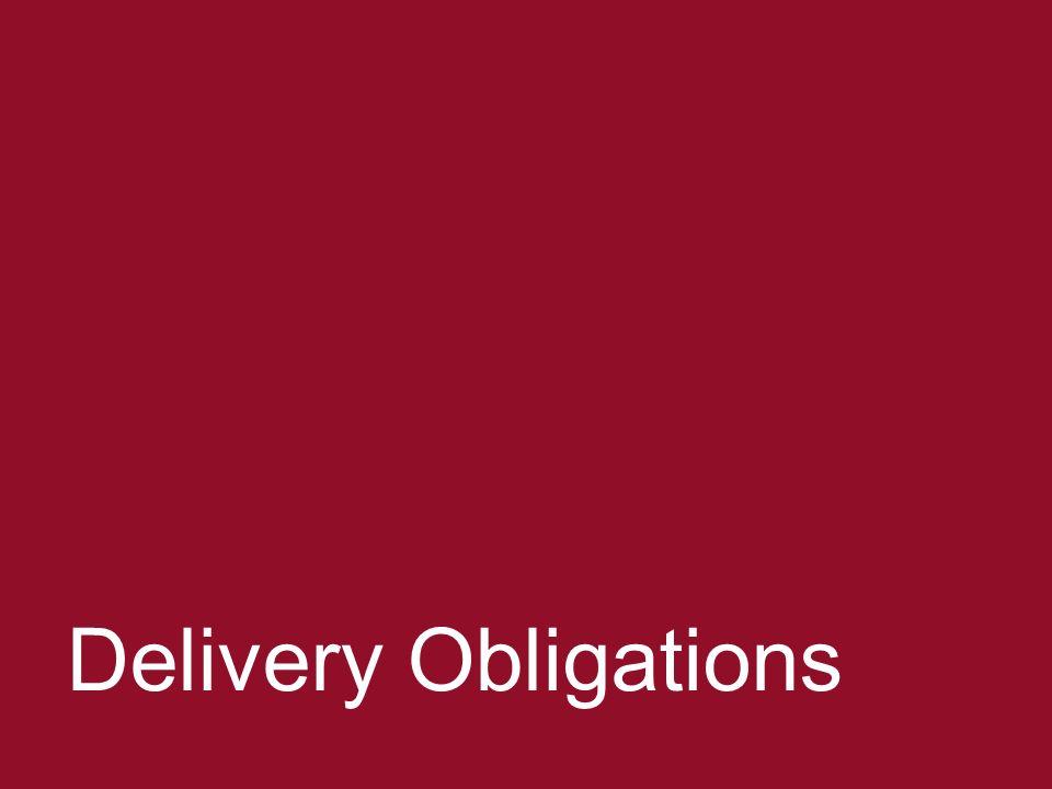Negotiating ERPAs 31 Delivery Obligations