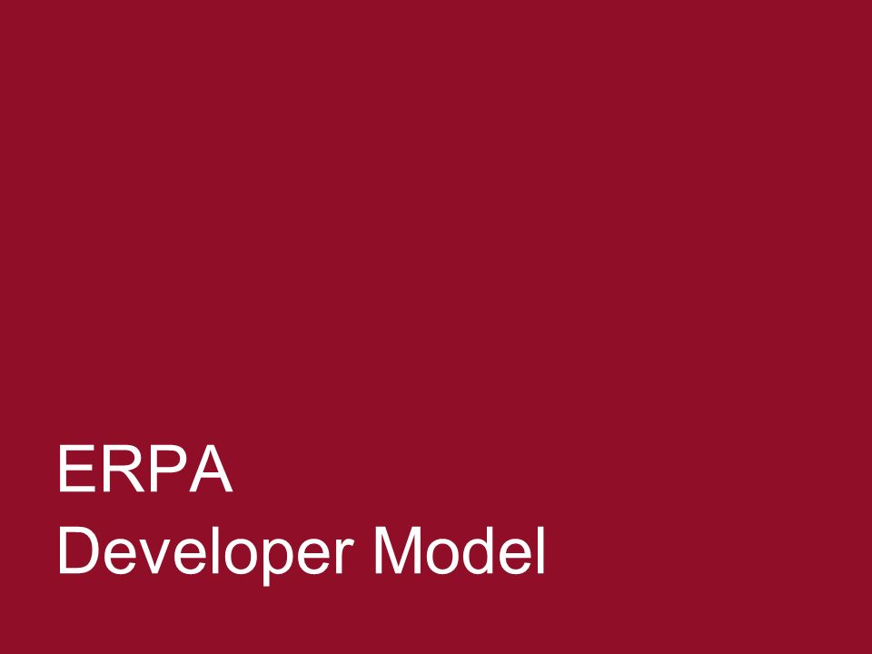Negotiating ERPAs 8 ERPA Developer Model