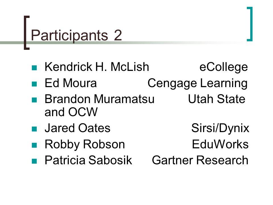 Participants 2 Kendrick H.