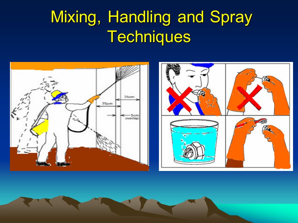 Mixing, Handling and Spray Techniques Mixing, Handling and Spray Techniques