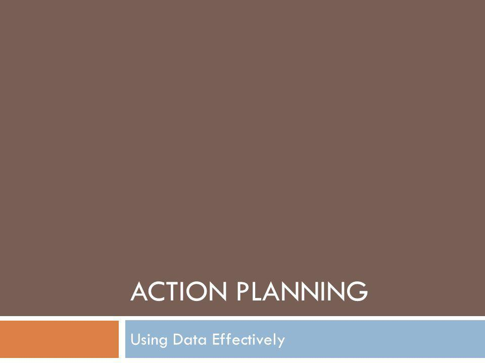 ACTION PLANNING Using Data Effectively