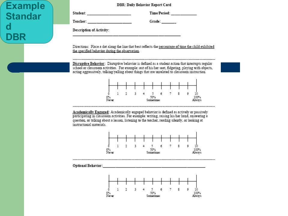 Example Standar d DBR