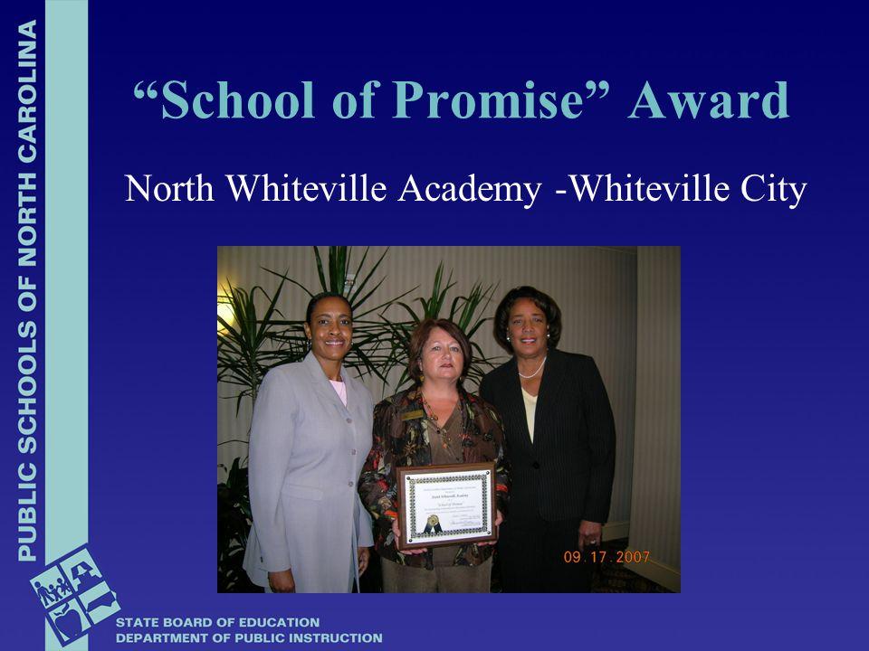 Ramsey Street High - Cumberland Co School of Promise Award