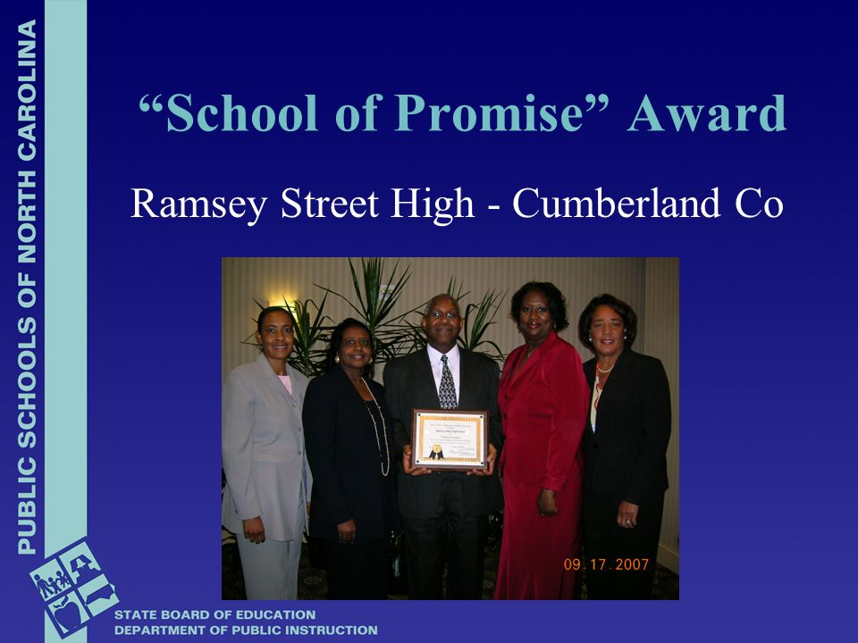 Ramsey Street High - Cumberland Co School of Promise Award