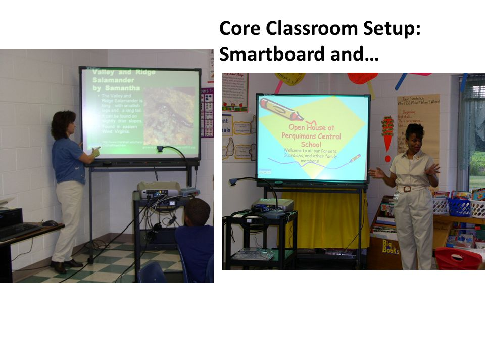 Core Classroom Setup: Smartboard and…
