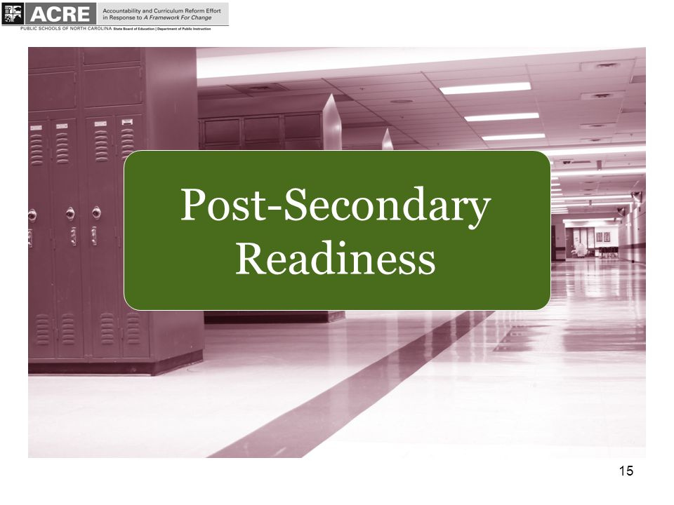 15 Post-Secondary Readiness