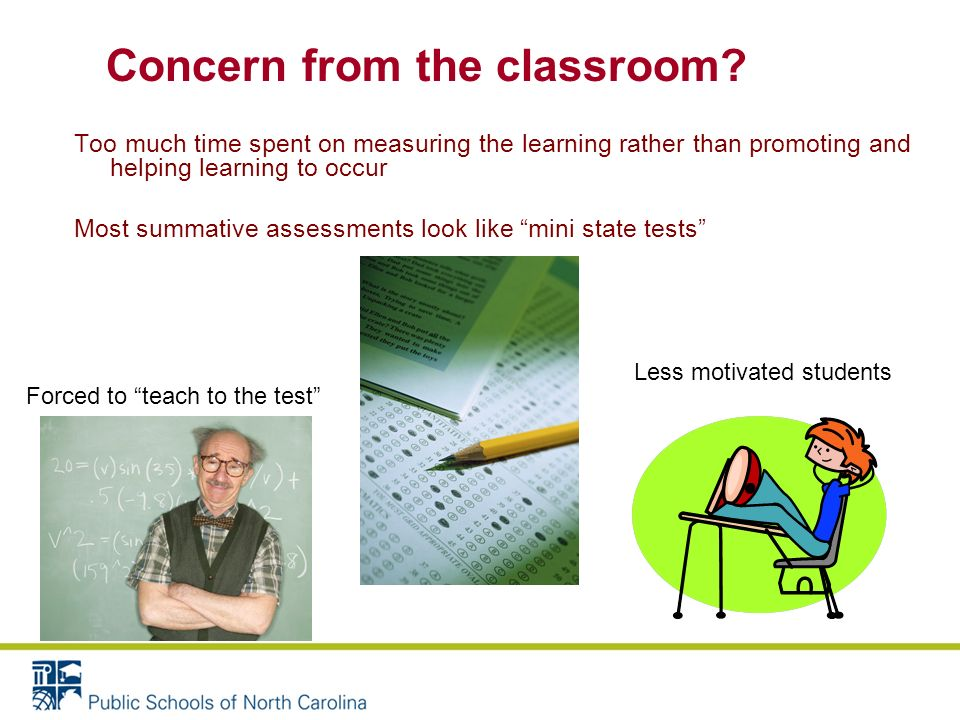 Both formative and summative assessment are valuable and important Without both the classroom assessment system is not balanced