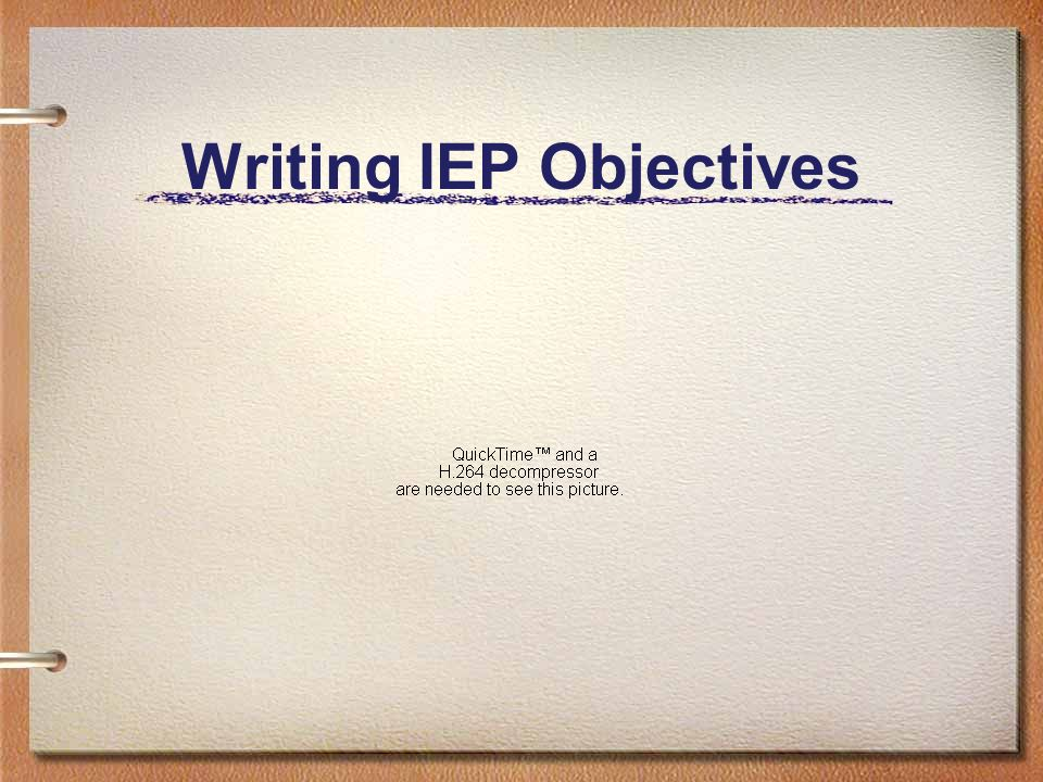 Writing IEP Objectives
