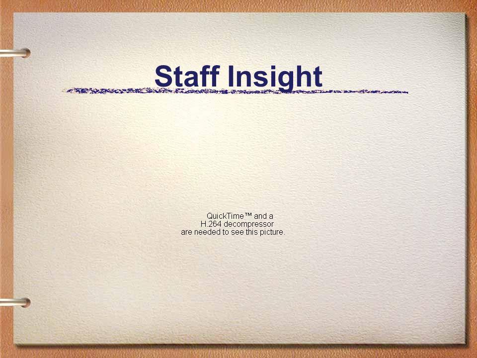 Staff Insight