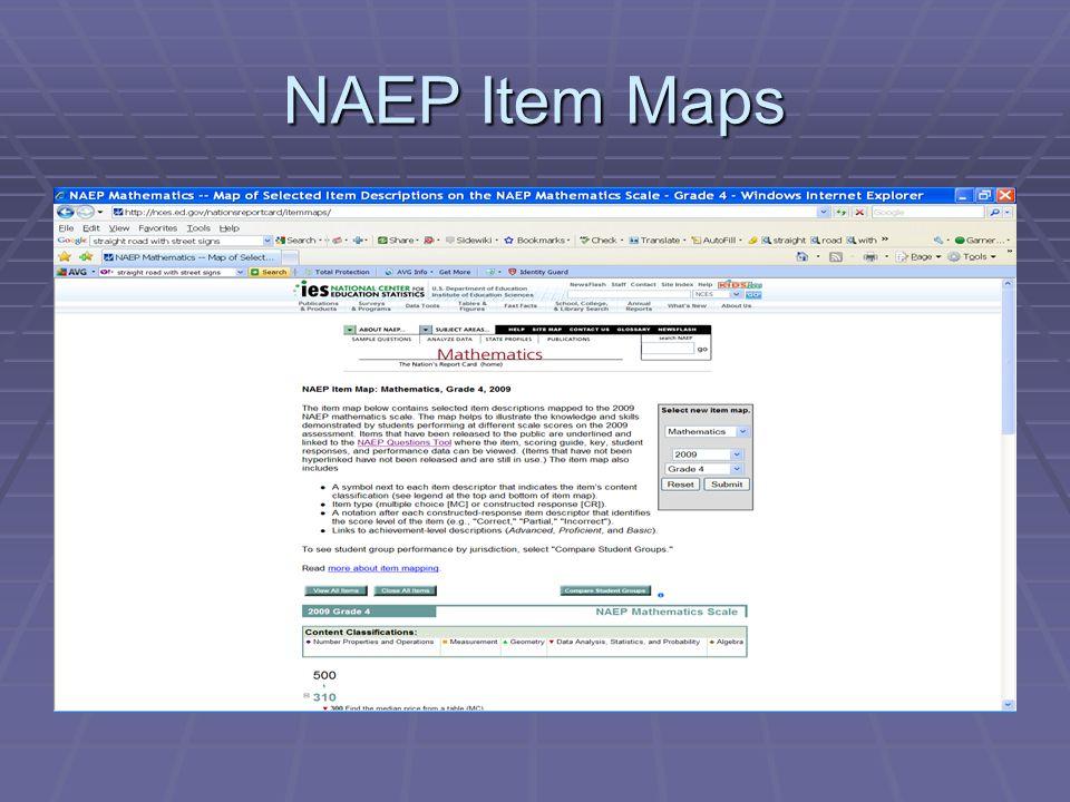 NAEP Item Maps