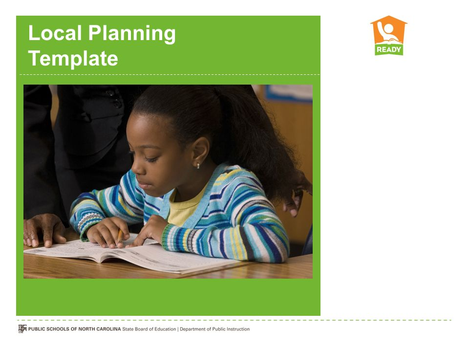 Local Planning Template