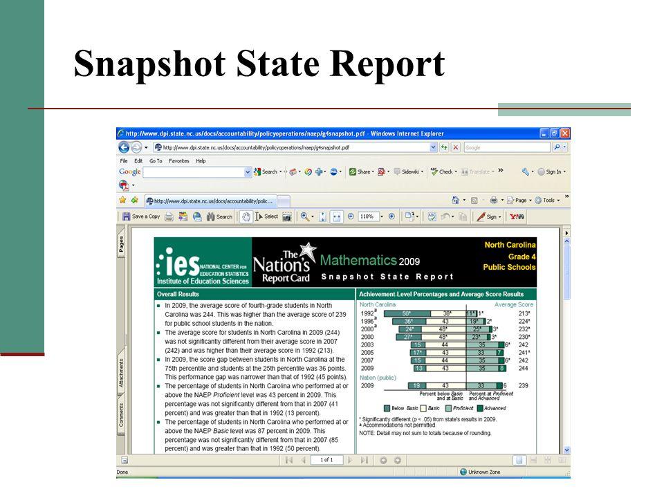 Snapshot State Report