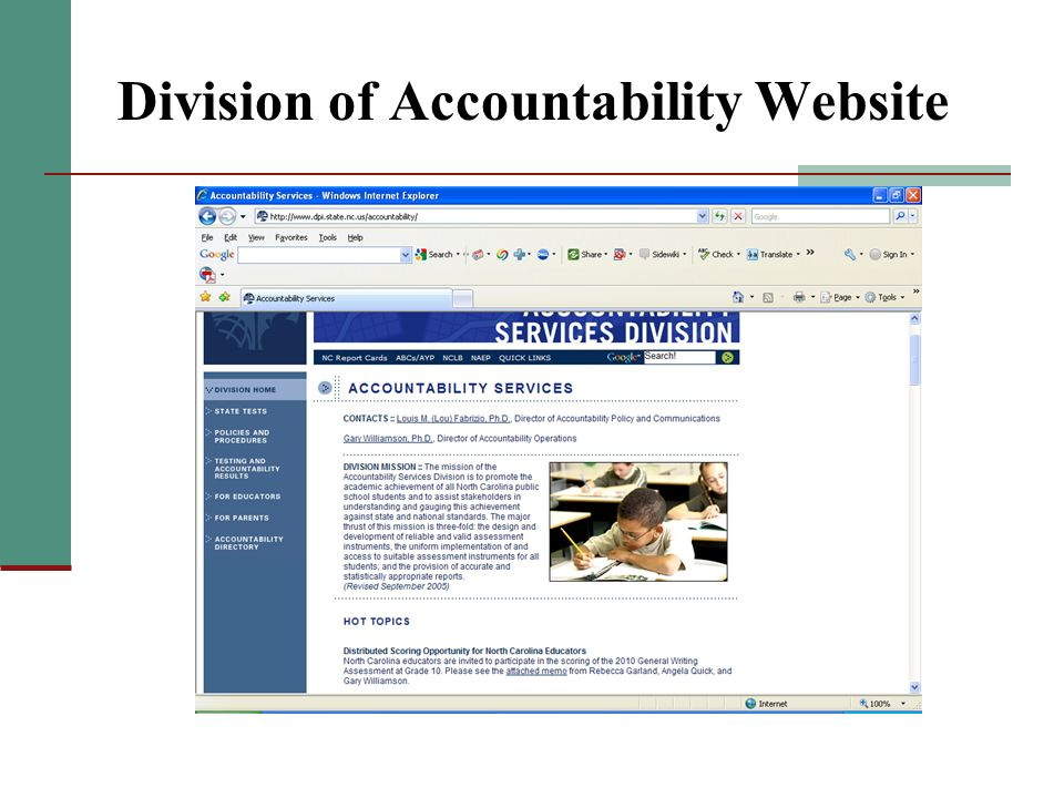 Division of Accountability Website